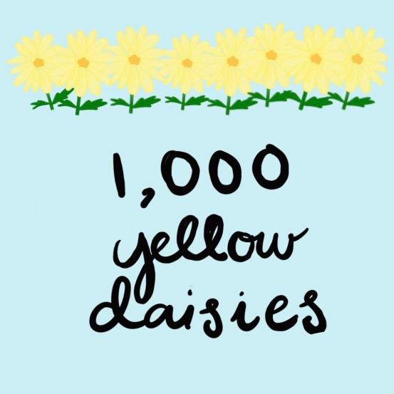 1,000 yellow daisies